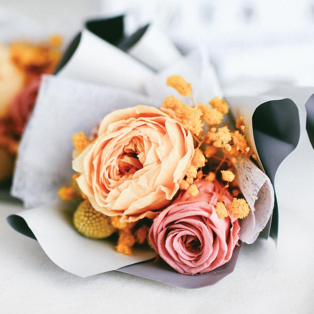 باقة ورود طبيعي Preserved Flower أفكار هدايا عيد الميلاد تخرج زواج محل
