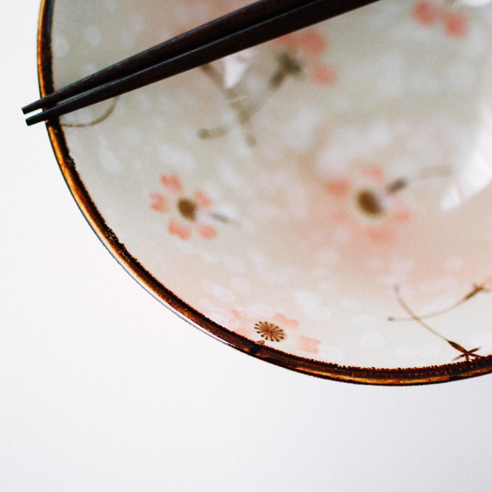 وعاء تقديم نودلز أزهار ساكورا طريقة اعداد رامن وعاء صحن خزف متجر