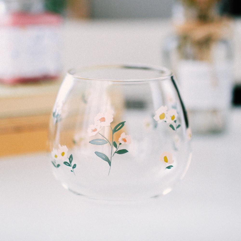 كوب قزاز وردة زهور طريقة عمل قهوة باردة كوب قهوة زجاجي أكواب زجاجية