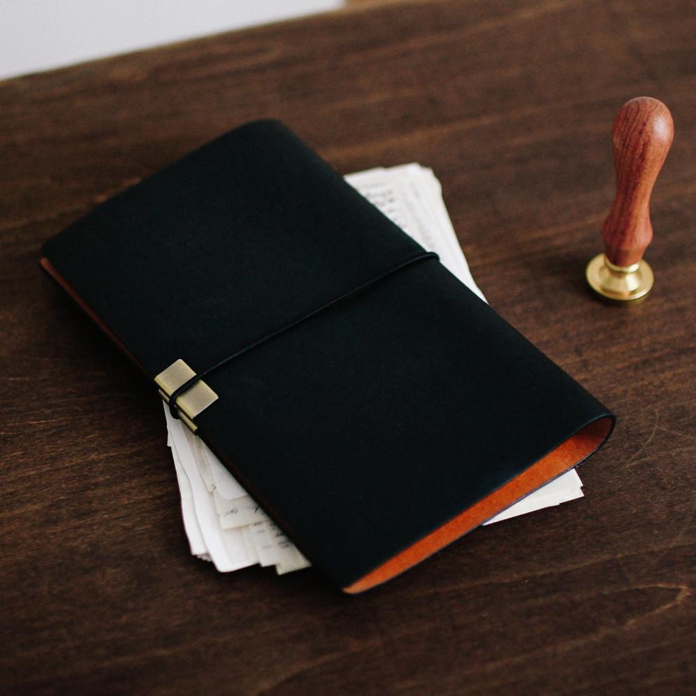دفتر جلد لون أسود دفاتر ملاحظات رجالي نسائي مذكرات أجندة دفتر للاجتماع