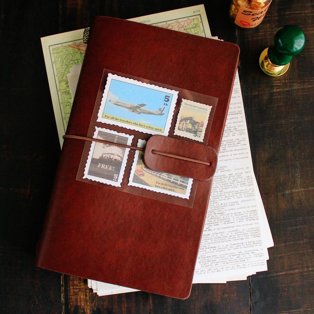 هدايا هدية عيد الميلاد هدية رجالية نسائي دفتر جلد فنتج بني فاصل كتاب