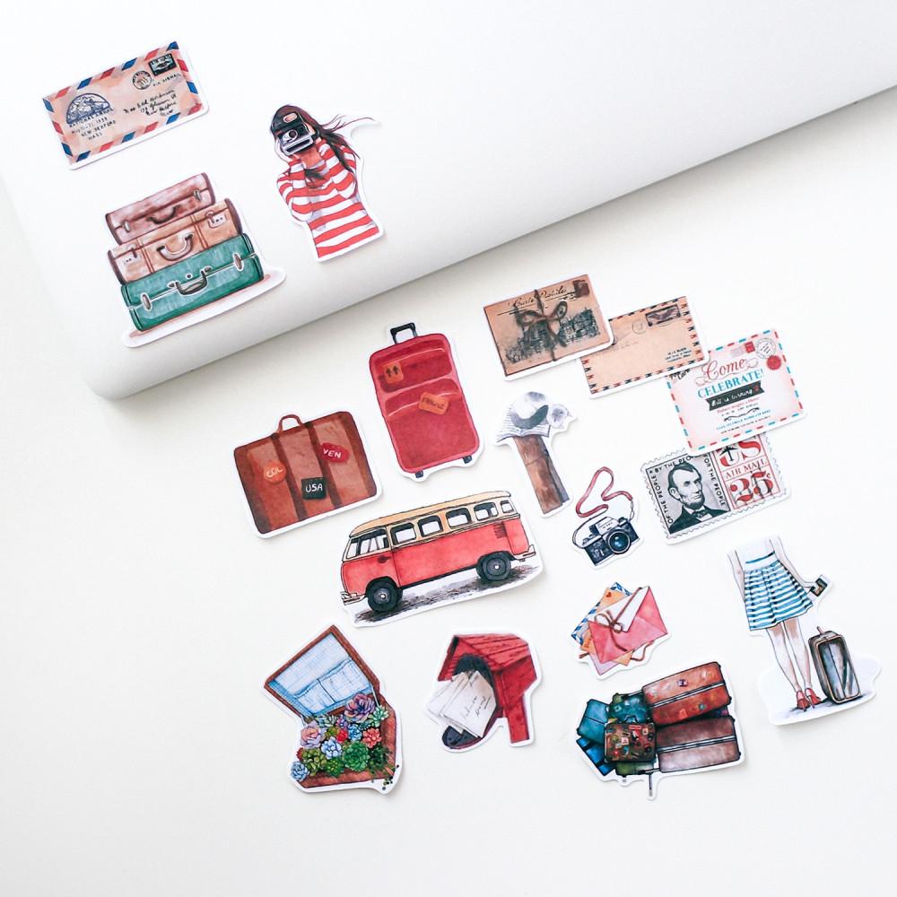 كيف أزين دفتري متجر قرطاسية أون لاين ستيكر حقيبة سفر رسائل كاميرا