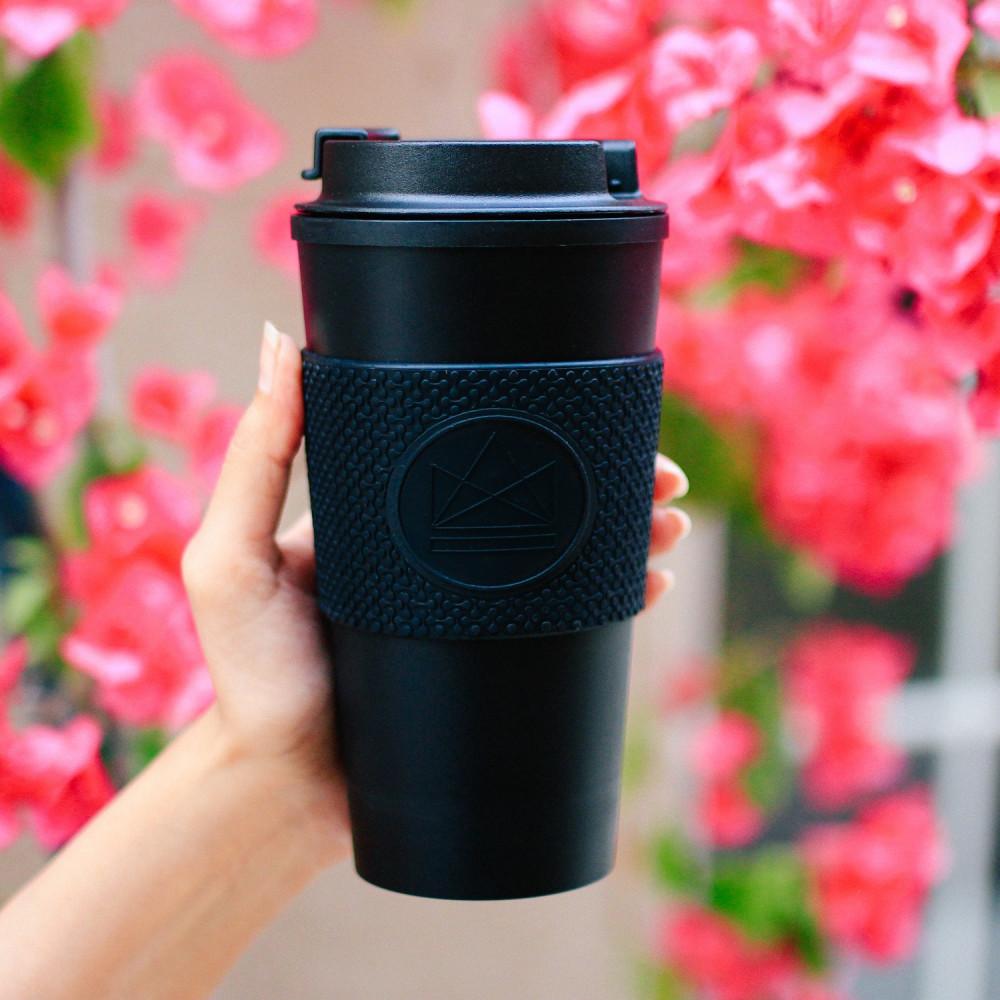 كوب قهوة حافظ للحرارة والبرودة مقاوم للكسر تصميم بريطاني Neon Kactus