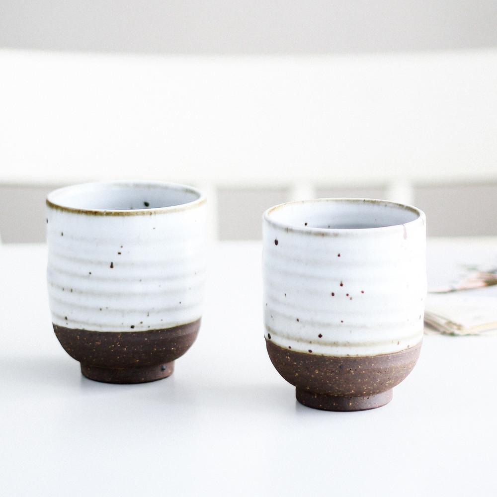 كواب شغل يدوي حجري خزف سيراميك أبيض كوب قهوة لاتيه فلات وايت كابتشينو