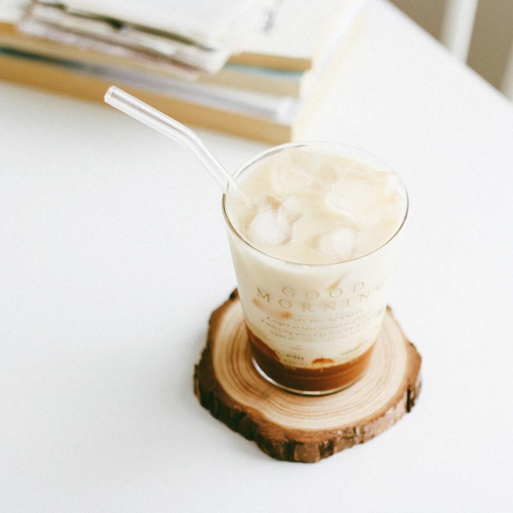 أكواب زجاج كبيرة كوب قهوة زجاجي شفاف قزاز كأس زجاج للقهوه صباح الخير