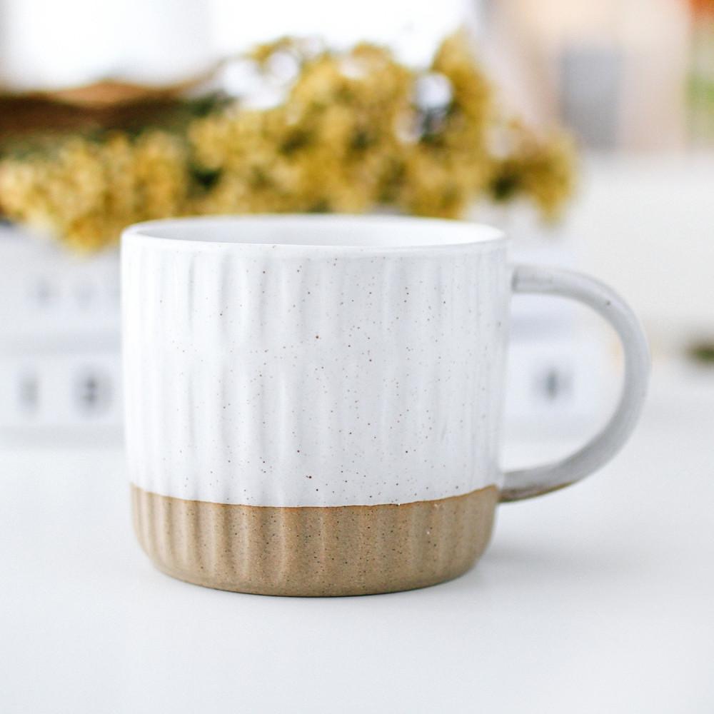 كوب سيراميك صناعة يدوية توصيل سريع أكواب قهوة مختصة لاتيه فلات وايت