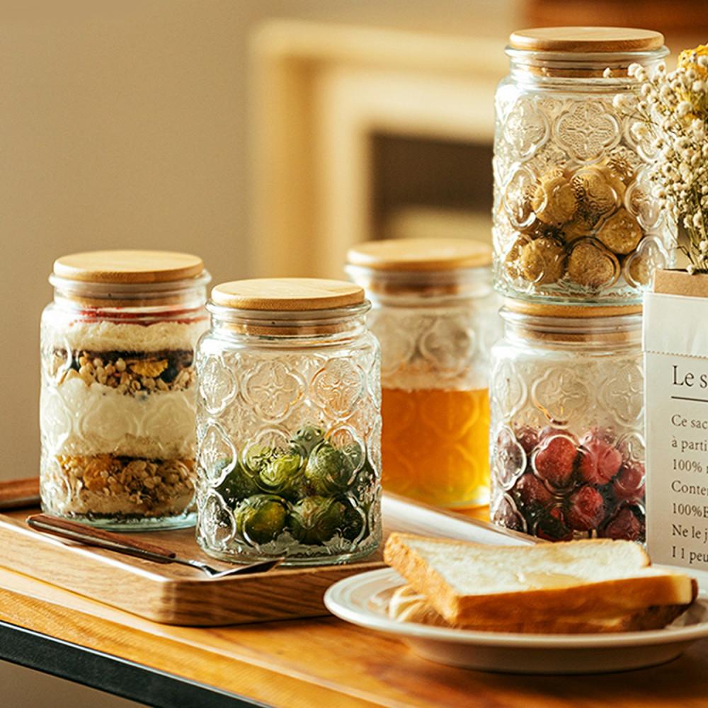 قارورة زجاج زجاجية ميسون مايسون جار طريقة ترتيب أرفف المطبخ خزائن متجر