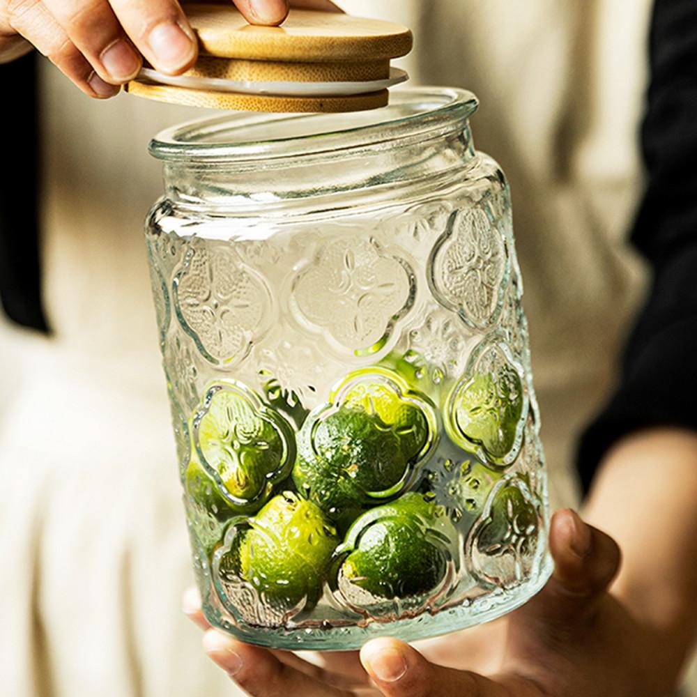 قارورة زجاج زجاجية ميسون مايسون جار طريقة تخزين الأطعمة الحبوب علبة