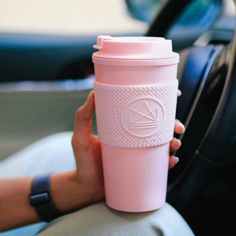أفضل كوب حافظ للحرارة وردي أصلي ماركة مانع للتسريب أكواب قهوة مختصة