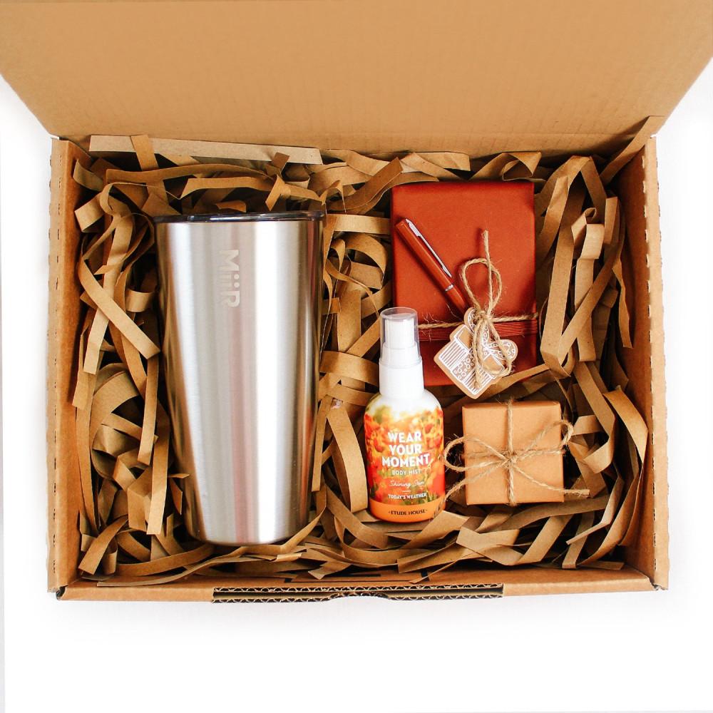 صندوق هدية هدايا جاهزة أفضل كوب قهوة حافظ للحرارة عطر رجالي نسائي متجر