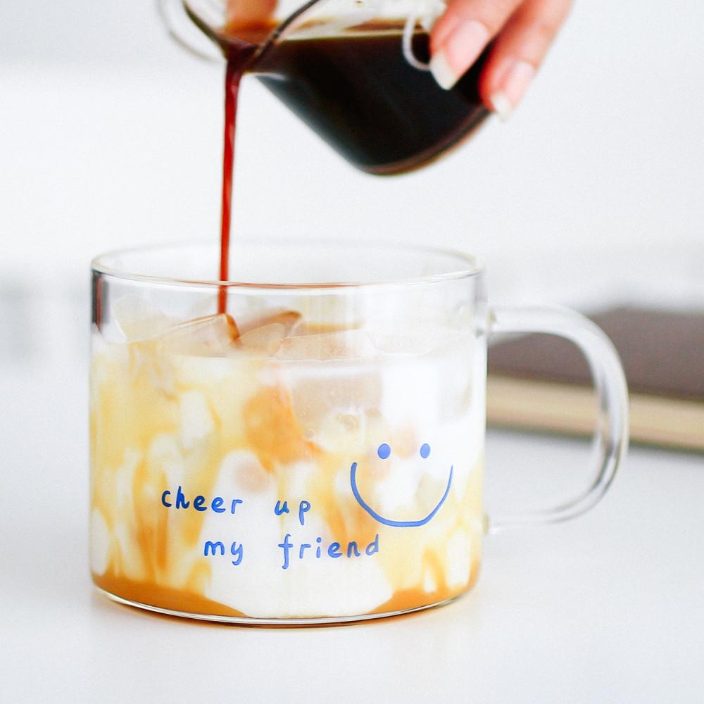 كوب آيسد كوفي كوب قهوة زجاجي كوب بممسك زجاجي كأس قهوة سبانش لاتيه