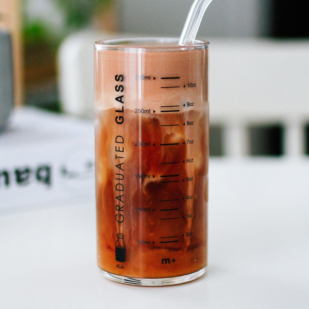 كوب زجاج قزاز للقهوة دبل طريقة القهوة الباردة سبانش لاتيه آيس شيكن محل