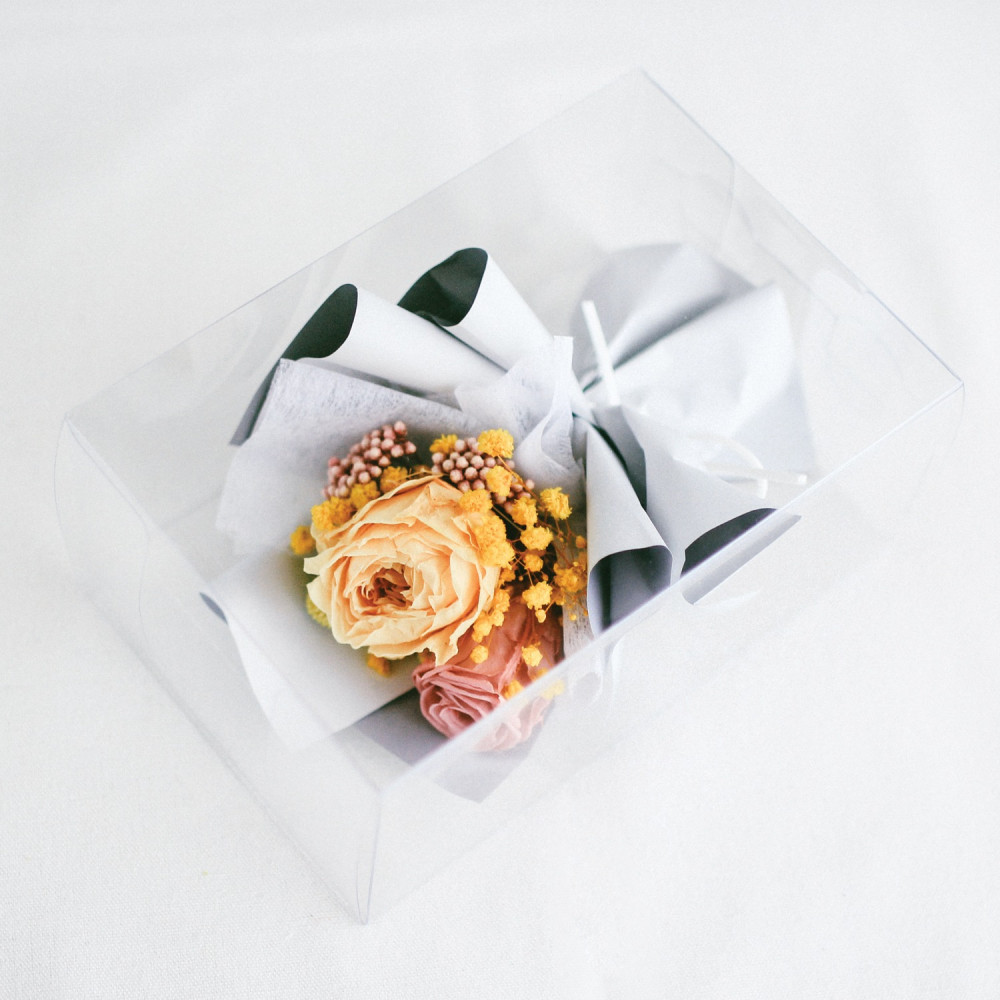 باقة ورود أصفر Preserved Flower أفكار هدايا خطوبة عيد ميلاد تخرج زواج