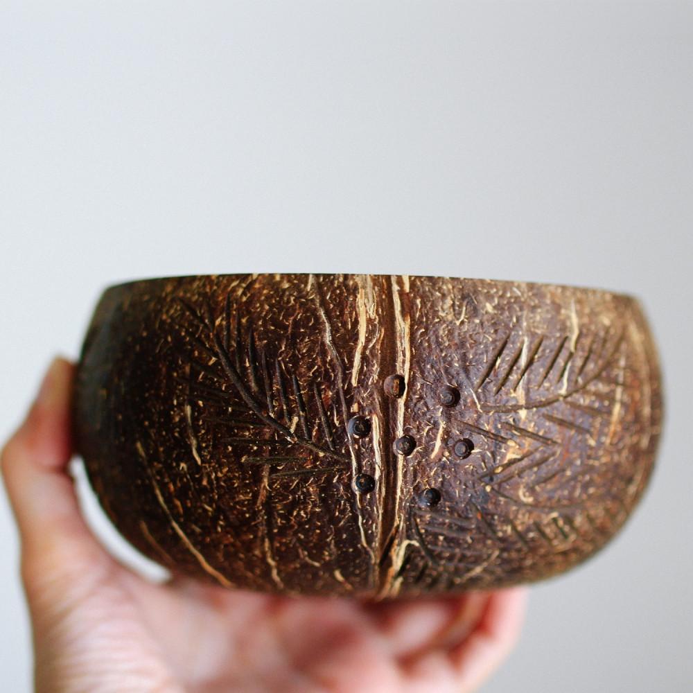 زبدية وعاء قشر جوز الهند الطبيعي فيجن منتجات طبيعية عضوية Coconut Bo