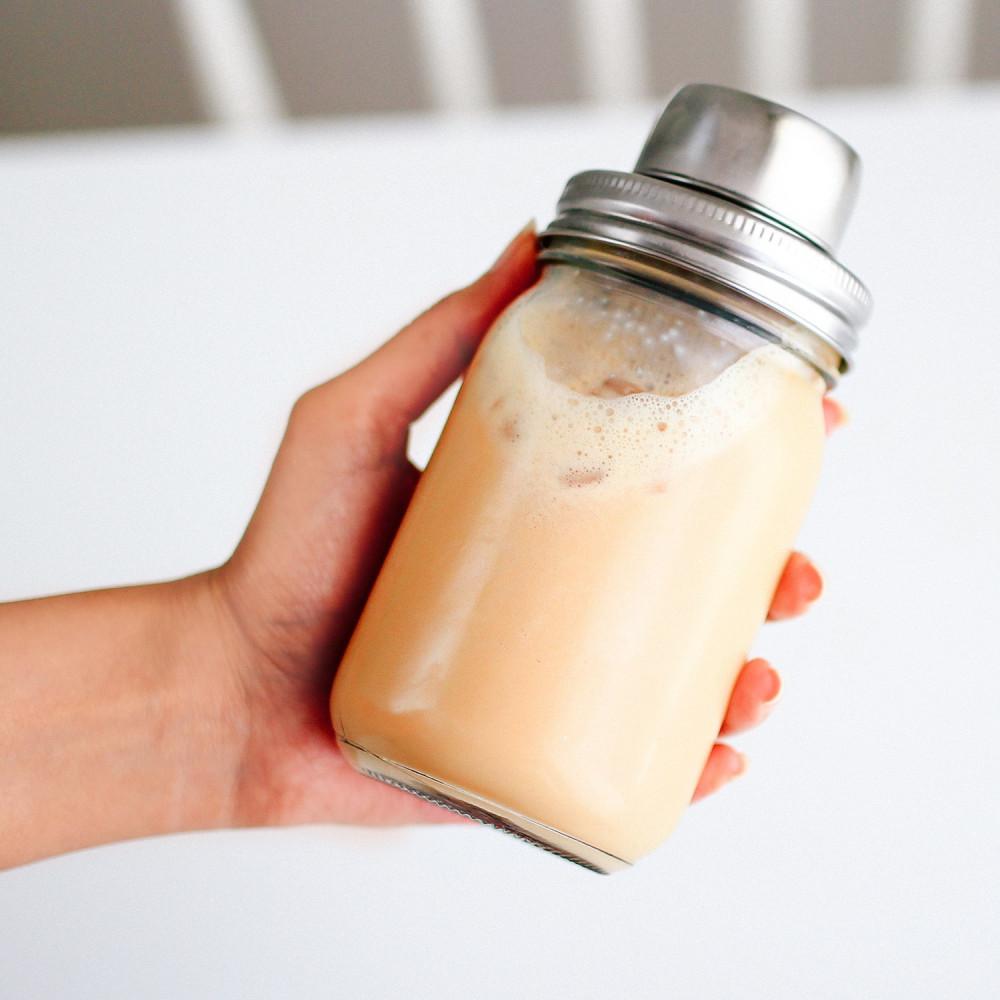 شيكر ميسون جار سبانش لاتيه بستاشيو لاتيه أدوات القهوة المثلجة متجر
