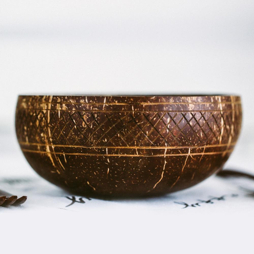 متجر نباتي فيقن إعادة تدوير زبدية وعاء جوز الهند الطبيعي خشبيات متجر
