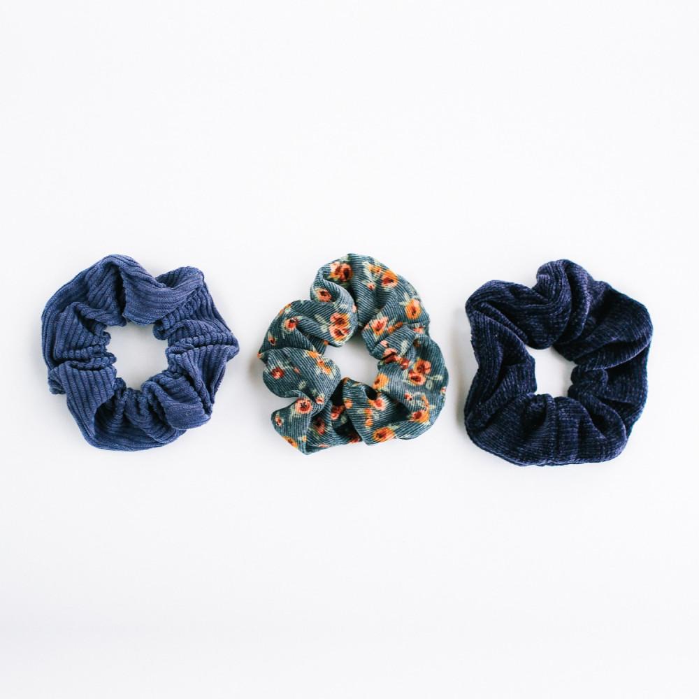 ربطة ربطات شعر أزرق اكسسوارات شعر أطفال للبنات للمدرسة للجامعة مخمل