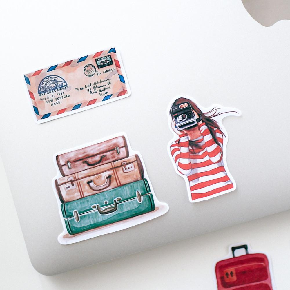 ملصقات ملصق كيف أزين دفتري متجر قرطاسية أون لاين ستيكر حقيبة سفر مكتبة