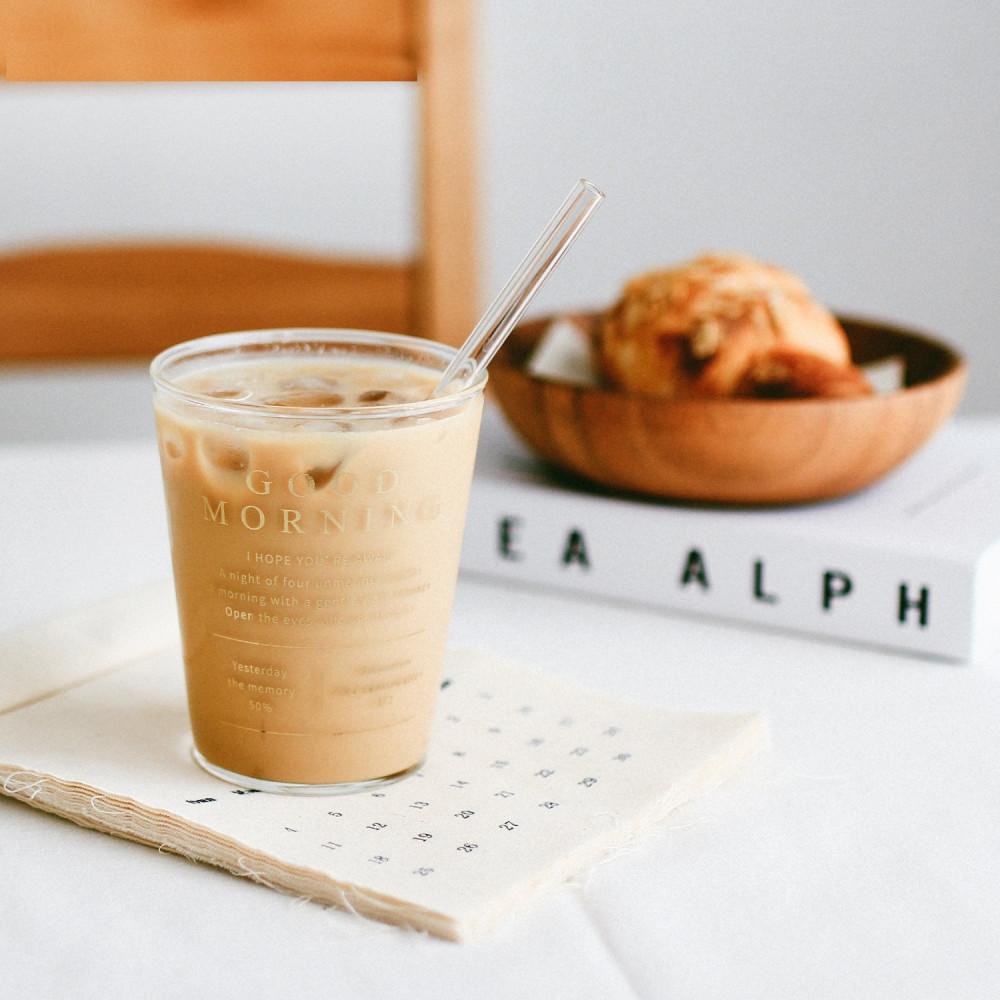 كوب قهوة زجاج شفاف كيف اسوي قهوة باردة أدوات القهوة المختصة ايس لاتيه