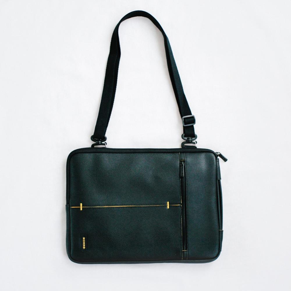 حقيبة لابتوب جلد أسود رجالية نسائية حقائب كمبيوتر 13 انش متجر حقائب