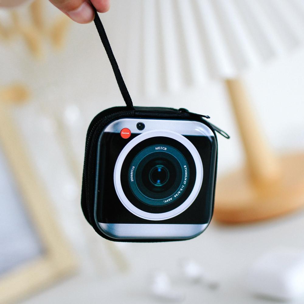 علبة تنظيم للحقيبة كاميرا لحفظ الأسلاك والسماعات USB سماعة airpods