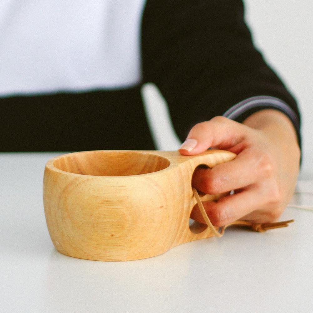 أكواب خشب للقهوة المختصة أكواب خشبية أواني خشب ديكور ركن القهوة متجر