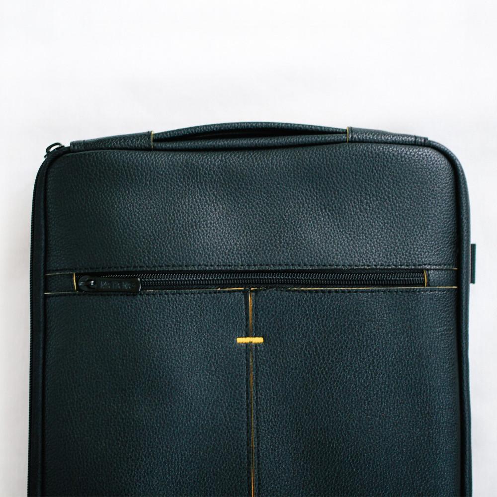 حقيبة لاب توب جلد أسود رجالية نسائية حقائب كمبيوتر 13 انش متجر حقائب
