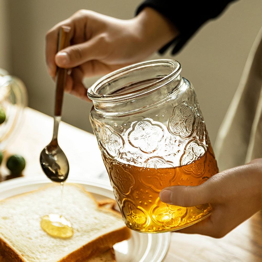 قارورة زجاج زجاجية ميسون مايسون جار طريقة ترتيب أرفف المطبخ علبة عسل
