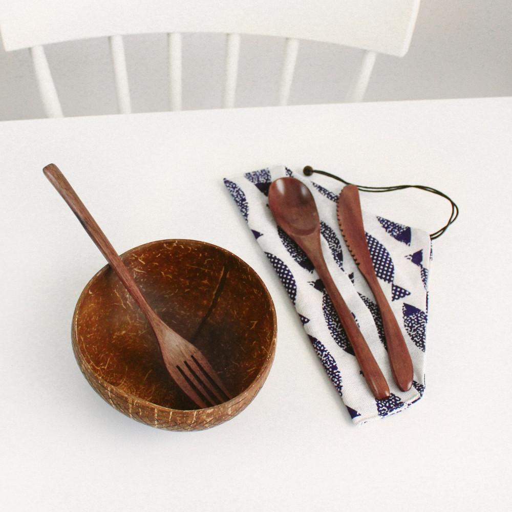 حقيبة السفر أدوات هايكنج أدوات السفر نباتيين أدوات الطعام مع حقيبة