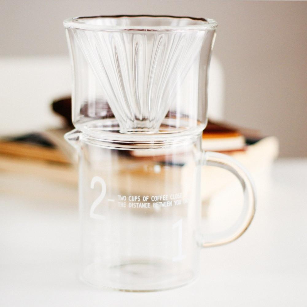 وعاء تحضير القهوة المقطرة v60 كيمكس أدوات القهوة المقطرة قمع فلتر