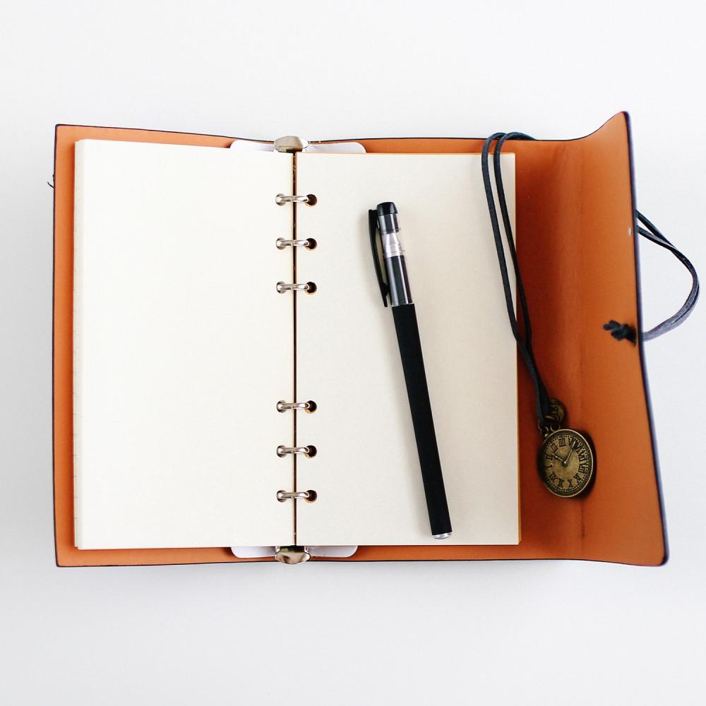 دفتر ملاحظات فنتج ريترو رجالي نسائي مذكرات دفتر أسود هدية متجر هدايا