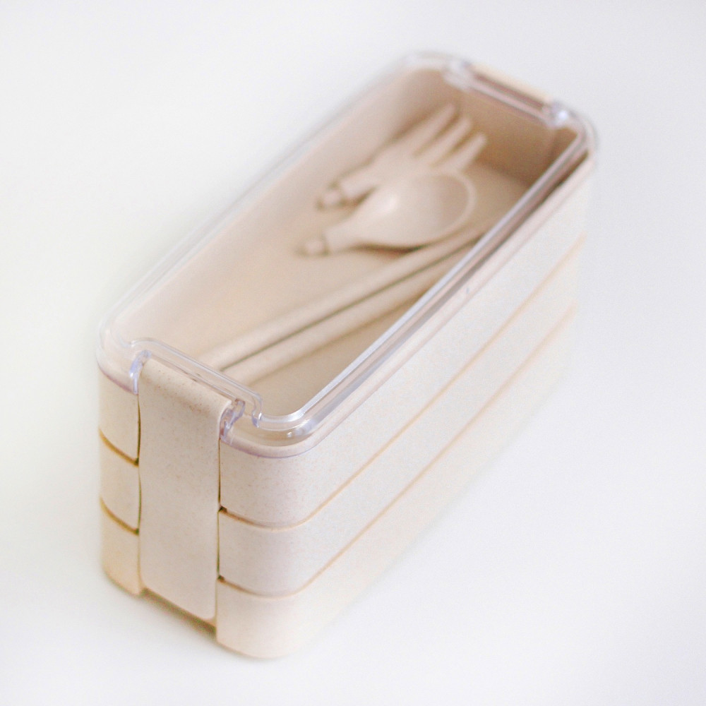 صندوق غداء لانش بوكس قابل للتسخين بالميكرويف مناسب للمدارس الدوام متجر