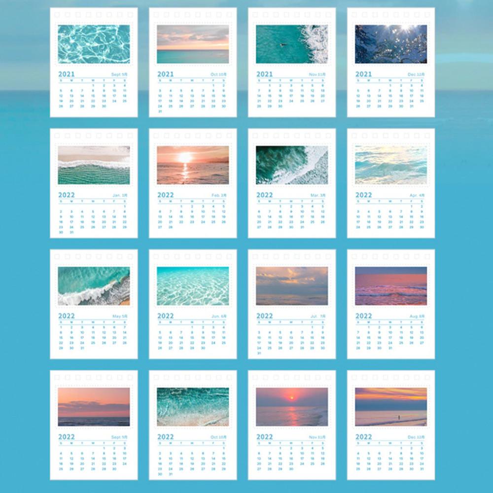 تقويم ميلادي 2022 بحر شاطئ صور فوتوغرافية بحر أزرق طباعة تقويم مكتب