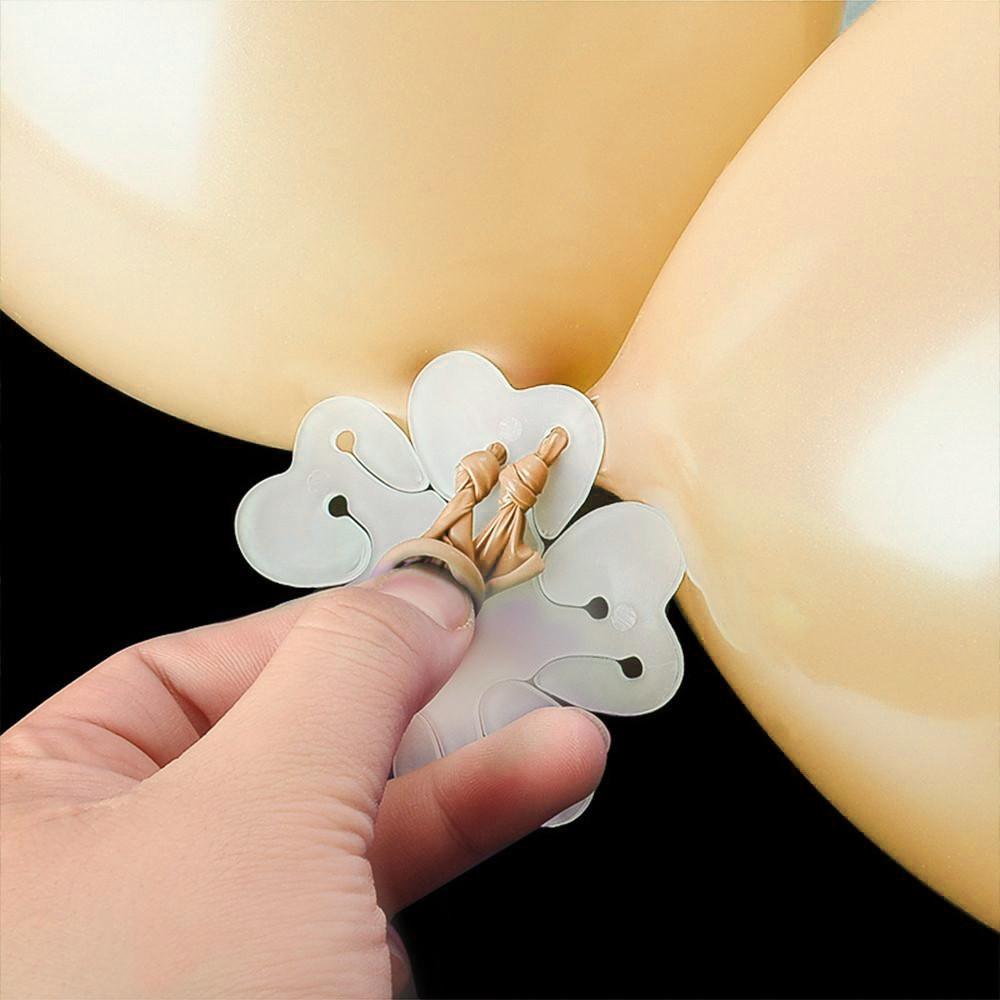 تنسيق البالونات بشكل وردة تثبيت البالونات على الجدار ربط البالونات