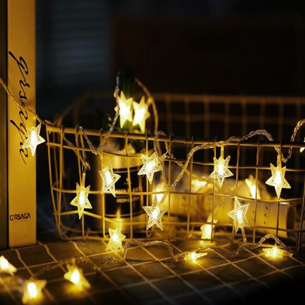 شريط إضاءة نجوم تزيين الحفلات تخرج زواج عيد الميلاد حبال زينة مضيئة