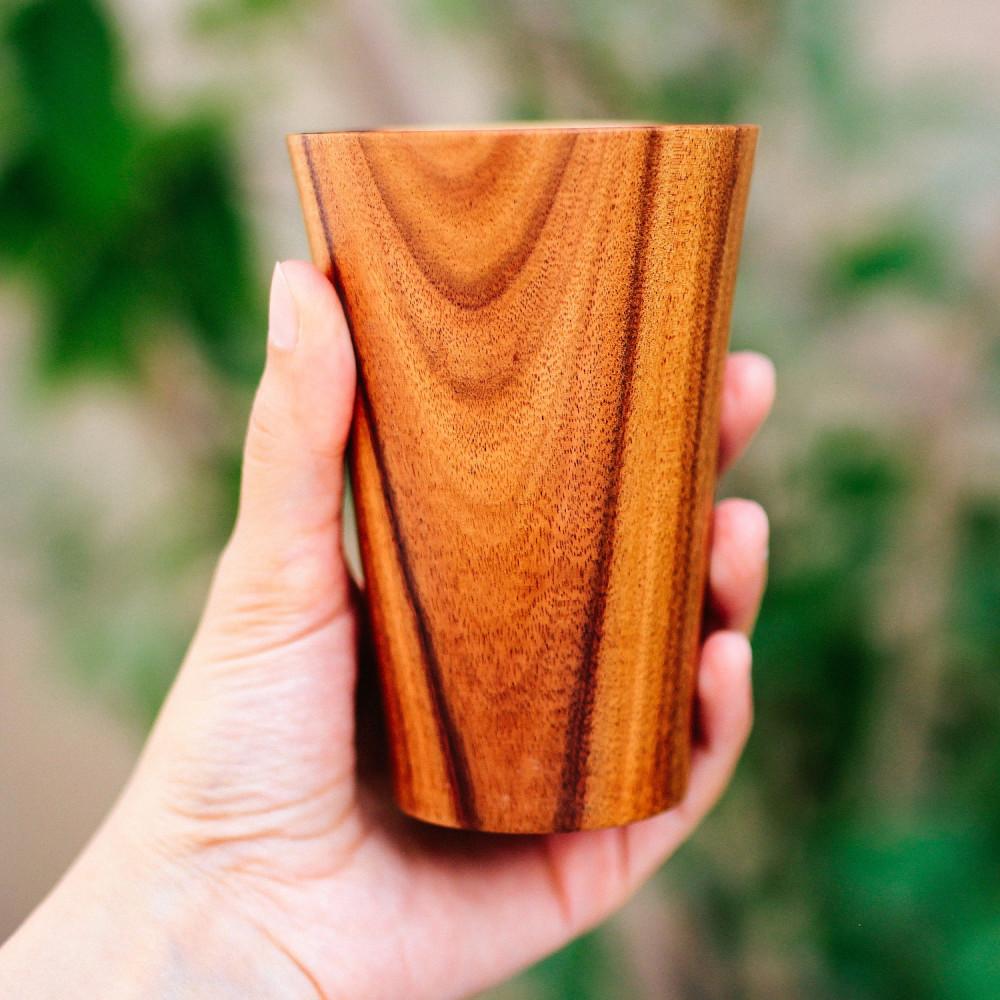 كأس خشب أكاسيا متجر أواني خشب خشبيات كأس عصير مشروبات أواني تقديم خشب