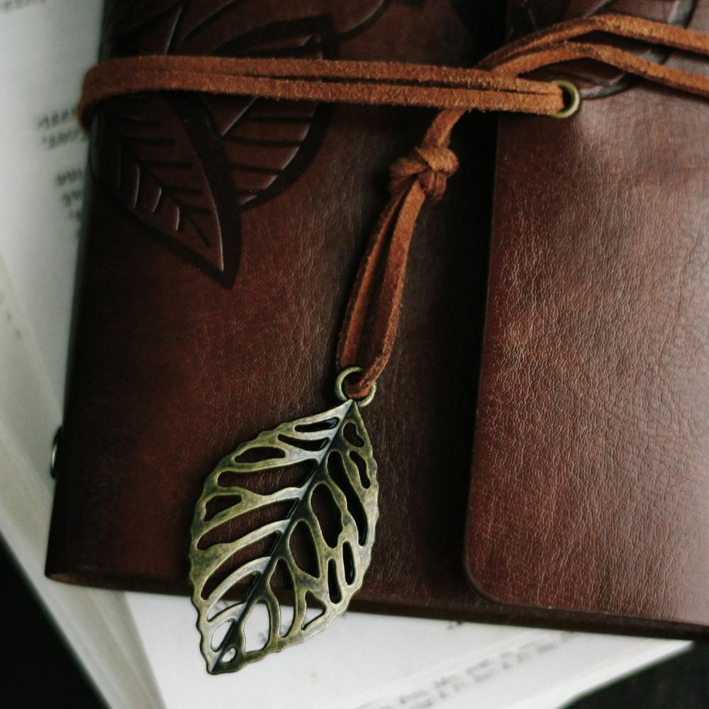 دفتر جلد بني أدوات أساسية دفتر محاضرات دفتر هدية رجالية نسائية متجر