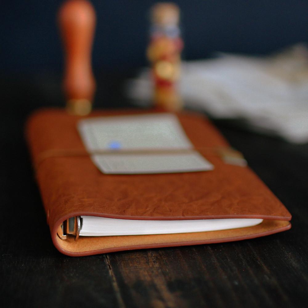 دفتر جلد طبيعي بني دفتر ملاحظات هدايا رجالية نسائية مذكرات أجندة ترقية