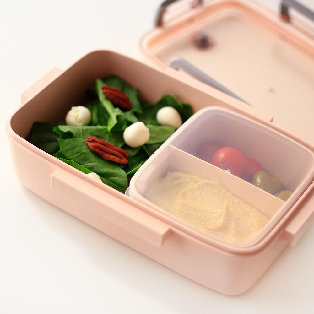 صندوق غداء بنتو لانش بوكس قابل للتسخين بالميكرويف مدرسة مانع للتسريب