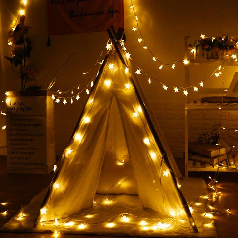 إضاءة  ليد شريط إضاءة نجوم تزيين الحفلات تخرج زواج عيد الميلاد حبال
