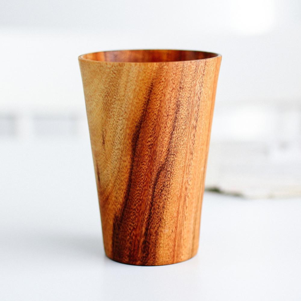 كوب قهوة خشب الأكاسيا متجر أواني خشبية خشبيات أكواب قهوة أواني تقديم