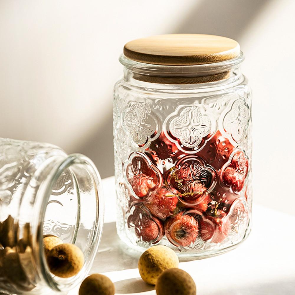 قارورة زجاج زجاجية ميسون مايسون جار طريقة تنظيم أرفف المطبخ خزائن متجر