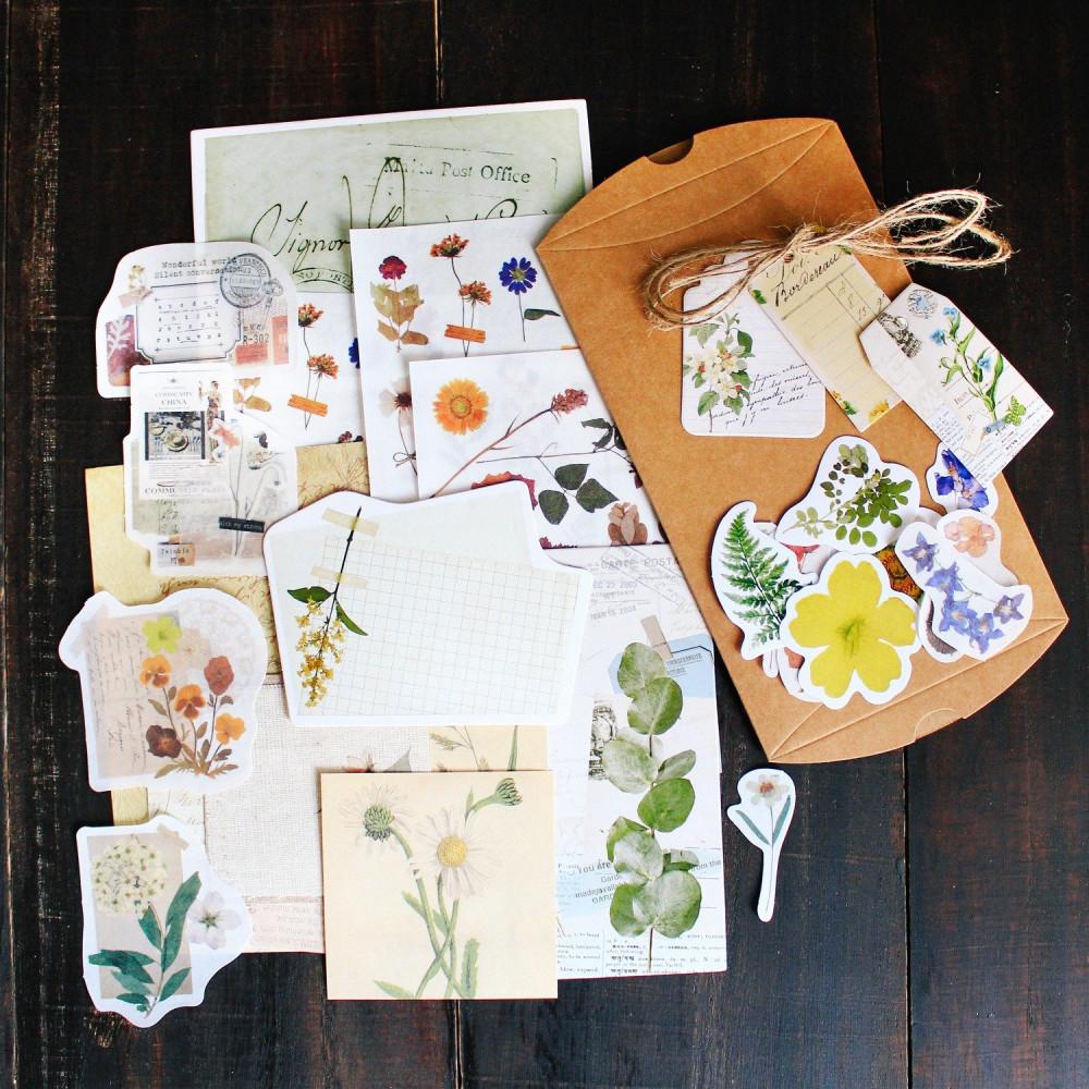 ستيكر ستيكرات فنتج نباتات زهور أدوات الكولاج طريقة تصميم الكولاج متجر