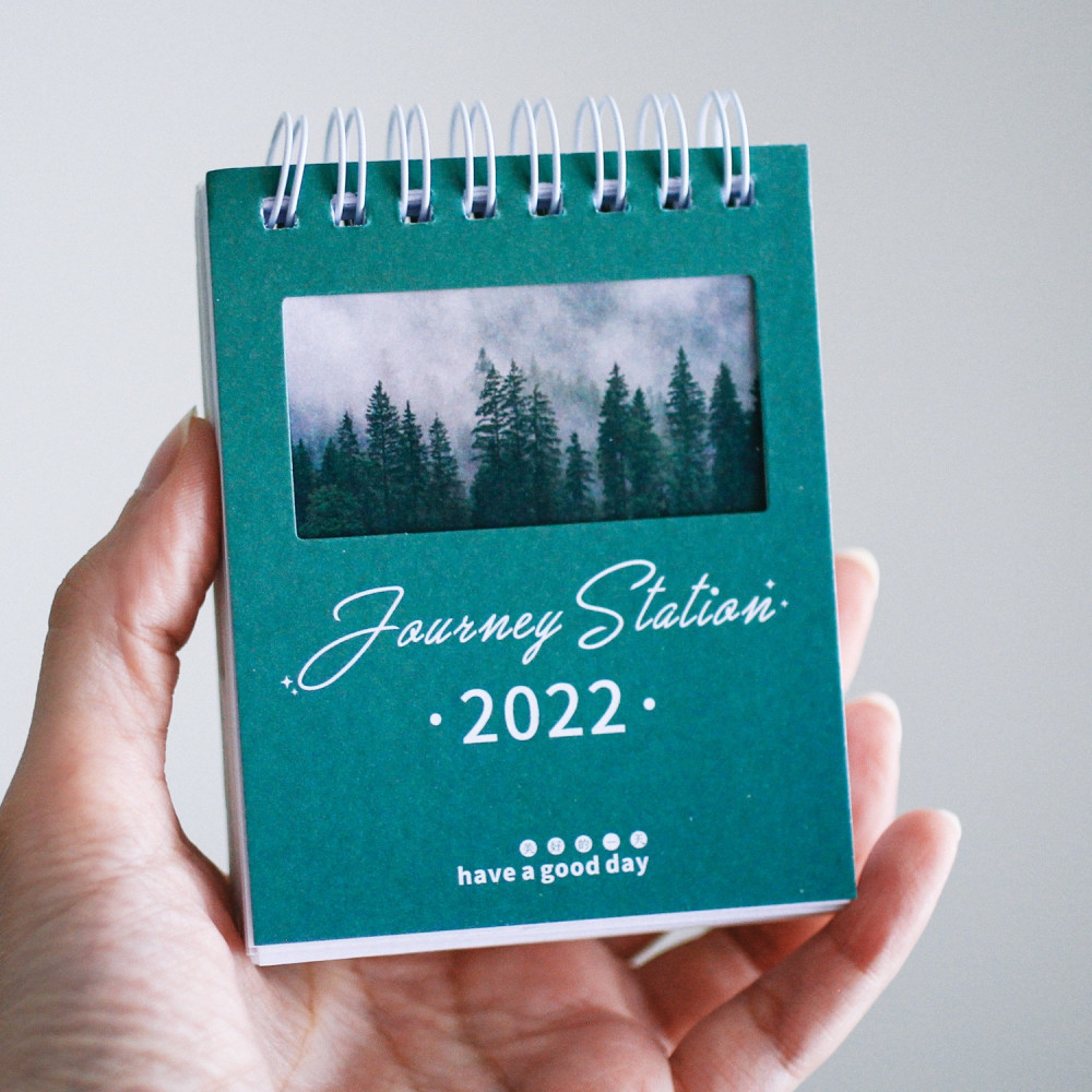 تقويم ميلادي 2022 صور فوتوغرافية ثيم أخضر غابة شجرة طريقة تنظيم المكتب