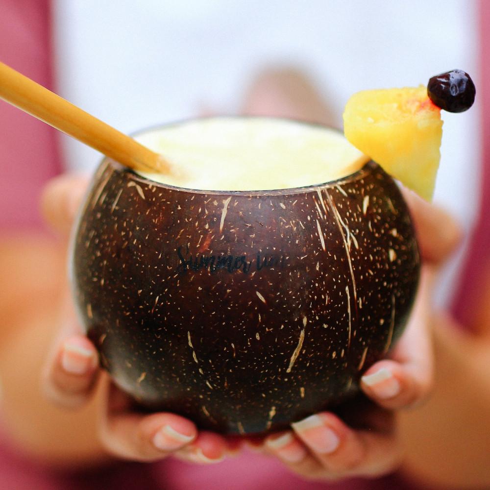 كوب جوز الهند الطبيعي مزاز باامبو مشروبات الصيف أفكار مشروبات لعزيمة