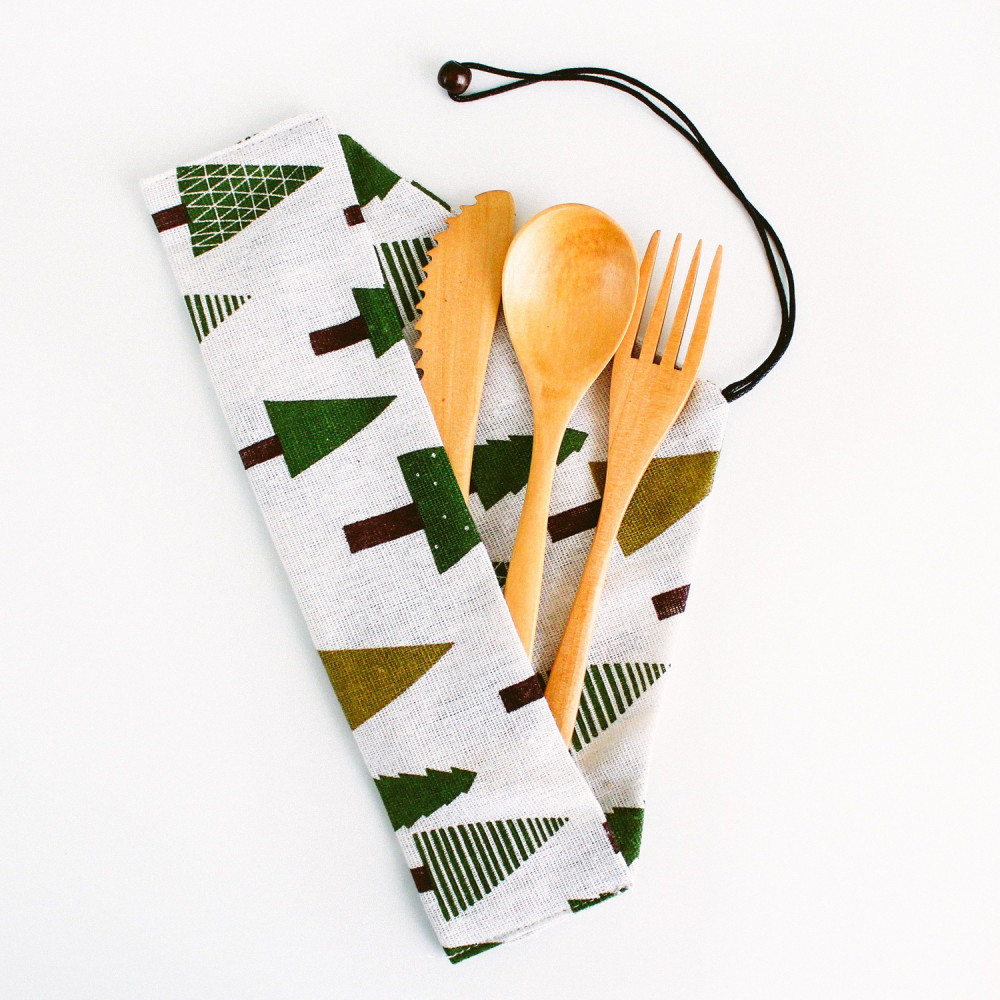 ملاعق خشبية ملعقة شوكة سكين خشب أدوات الطعام أدوات سفرة أواني منزلية