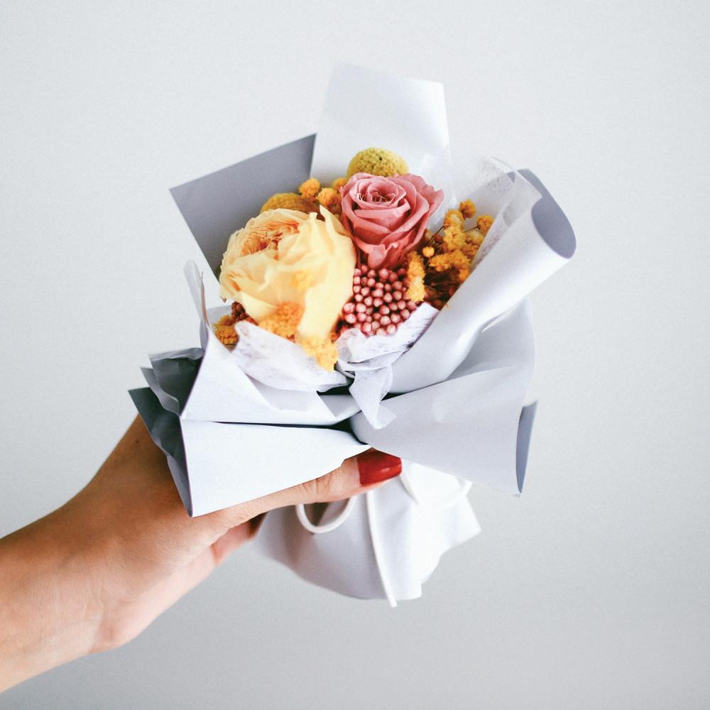 باقة ورد طبيعي Preserved Flower أفكار هدايا خطوبة عيد ميلاد تخرج زواج