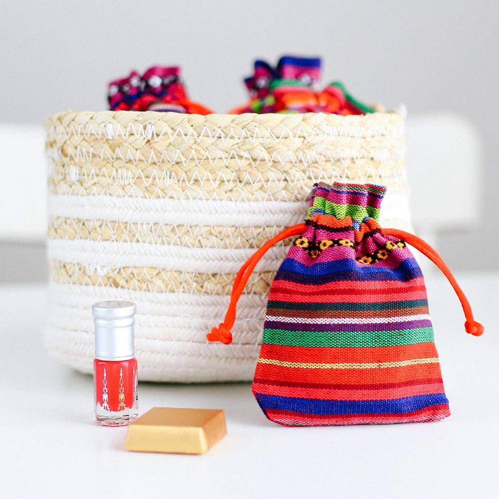 عيديات للكبار علب توزيعات قماش حفلة عيد الأضحى كيس خيش هدية هدايا