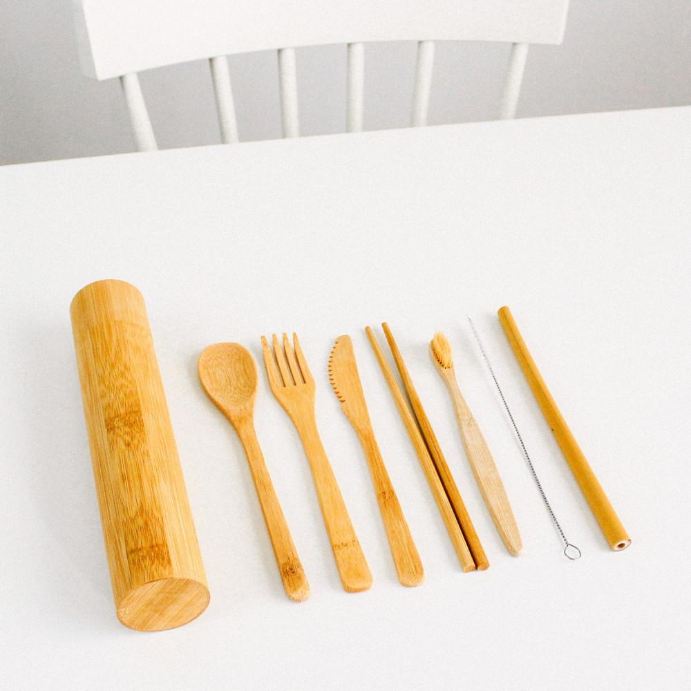أدوات السفر أدوات هايكنج أدوات نباتيين أدوات بامبو فيجن أواني خشبية