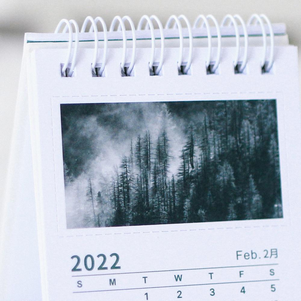 تقويم ميلادي 2022 صور فوتوغرافية غابة أشجار طريقة تنظيم المكتب شجرة